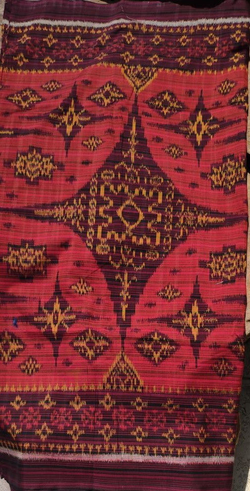 Bali Ikat #2 Red and Golds