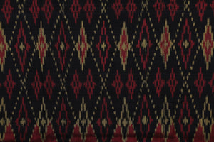 Bali Ikat #11 Red, Black and Gold