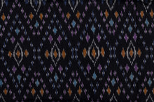 Load image into Gallery viewer, Bali Ikat #12 Black and Jewels