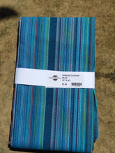 Load image into Gallery viewer, Stripe Cotton-Wide Blue Aqua/Lime 01156