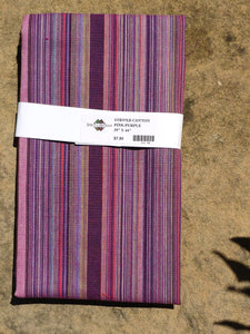 Stripe Cotton-Wide Purple/Pink 01158