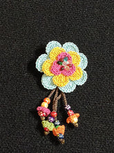 Load image into Gallery viewer, Pins Made by Hand Crochet with Hanging Beads