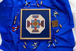 Blue Medallion Needlepoint