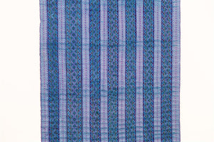 Hill Tribe Cross Stitch Skirt Pieces-Blue, Turquoise and Purple