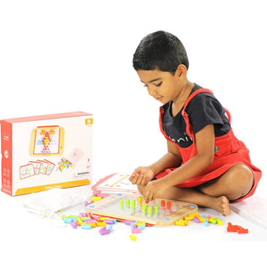 Pattern - Colour Sorting Pegs - Bloomy Brain Toys