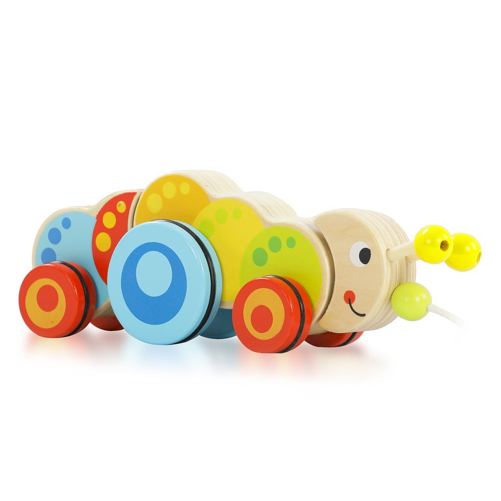 Pull along - Caterpillar - Bloomy Brain Toys