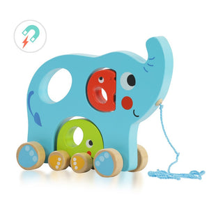 Pull Along - Elephant Family - Bloomy Brain Toys