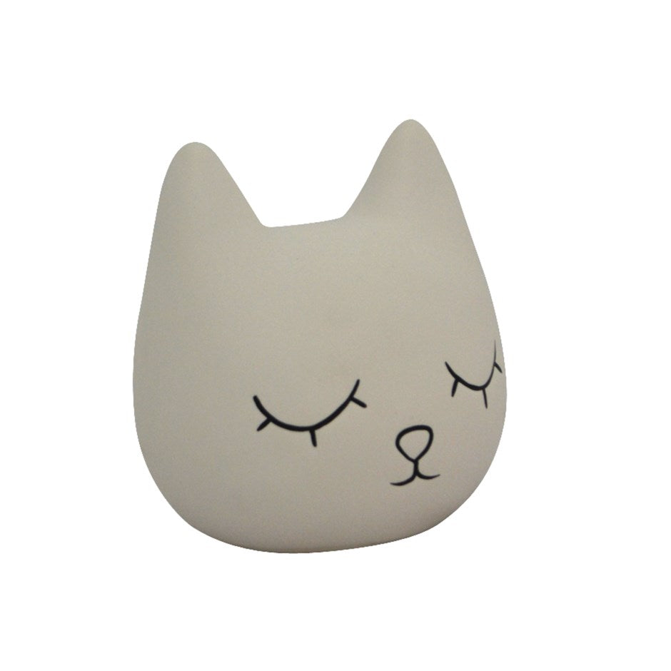 Satin White Cat Bank - andoveco