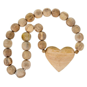Full Wooden Heart Prayer Beads - andoveco