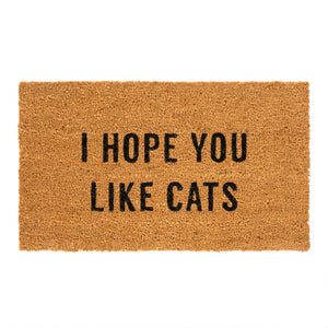 Hope You Like Cats Doormat - andoveco