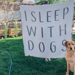I Sleep With Dogs Throw Blanket - andoveco