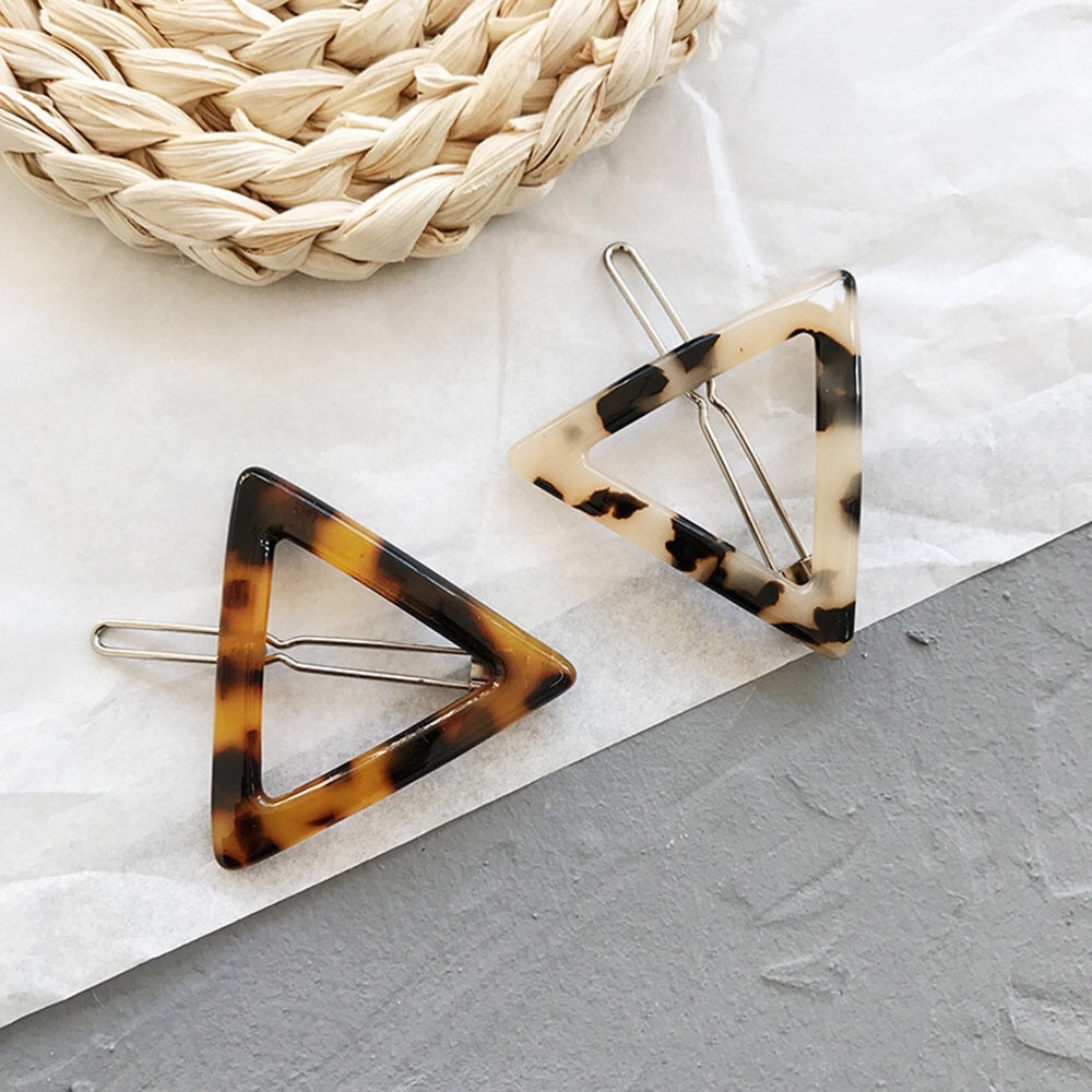 Shape Barrettes •Triangle•Circle•Bar• - andoveco