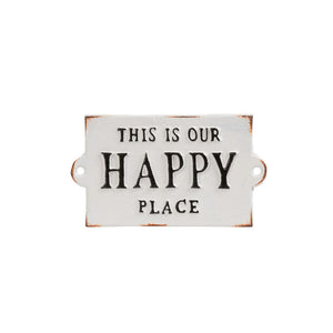 Our Happy Place Sign - andoveco