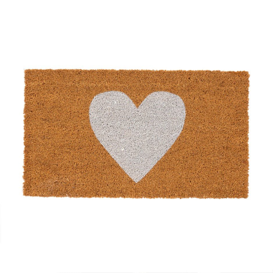 White Heart Doormat - andoveco