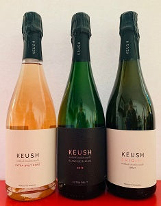 KEUSH Sampler Set - Brut Origins, 2013 Blanc de Blancs, Extra Brut Rose with FREE SHIPPING