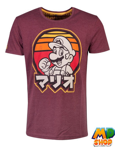 T-SHIRT SUPER MARIO<br> JAPAN RETRO - mario-partyshop