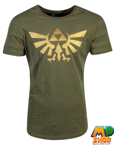 T-SHIRT ZELDA<br> GOLD TRIFORCE - mario-partyshop