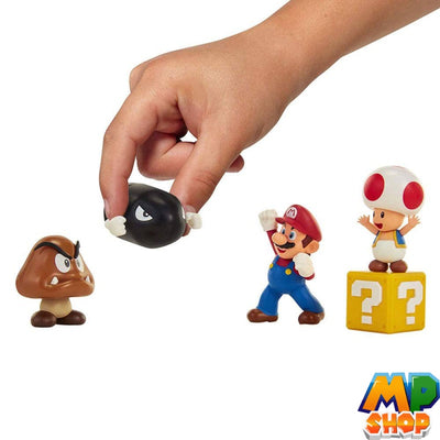 FIGURINES MARIO<br>WORLD OF NINTENDO 5 PIECES - mario-partyshop