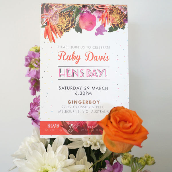Hens Day Invitation