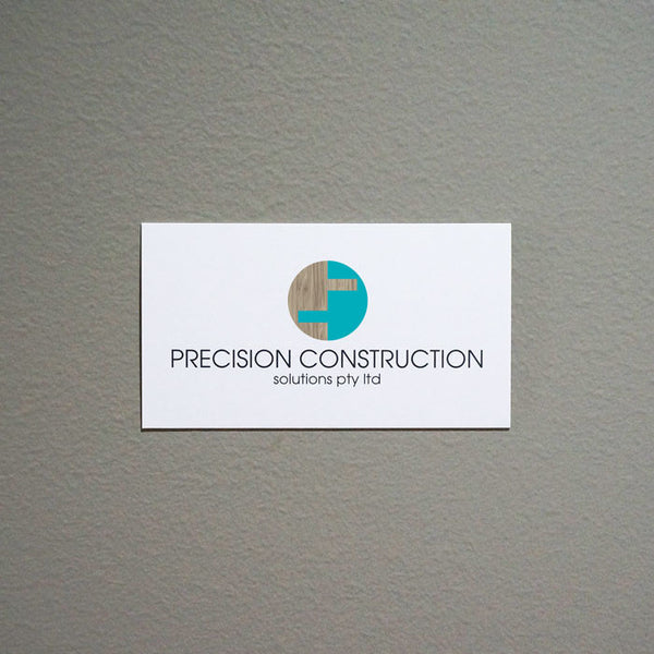 Precision Construction - New Branding / B Card