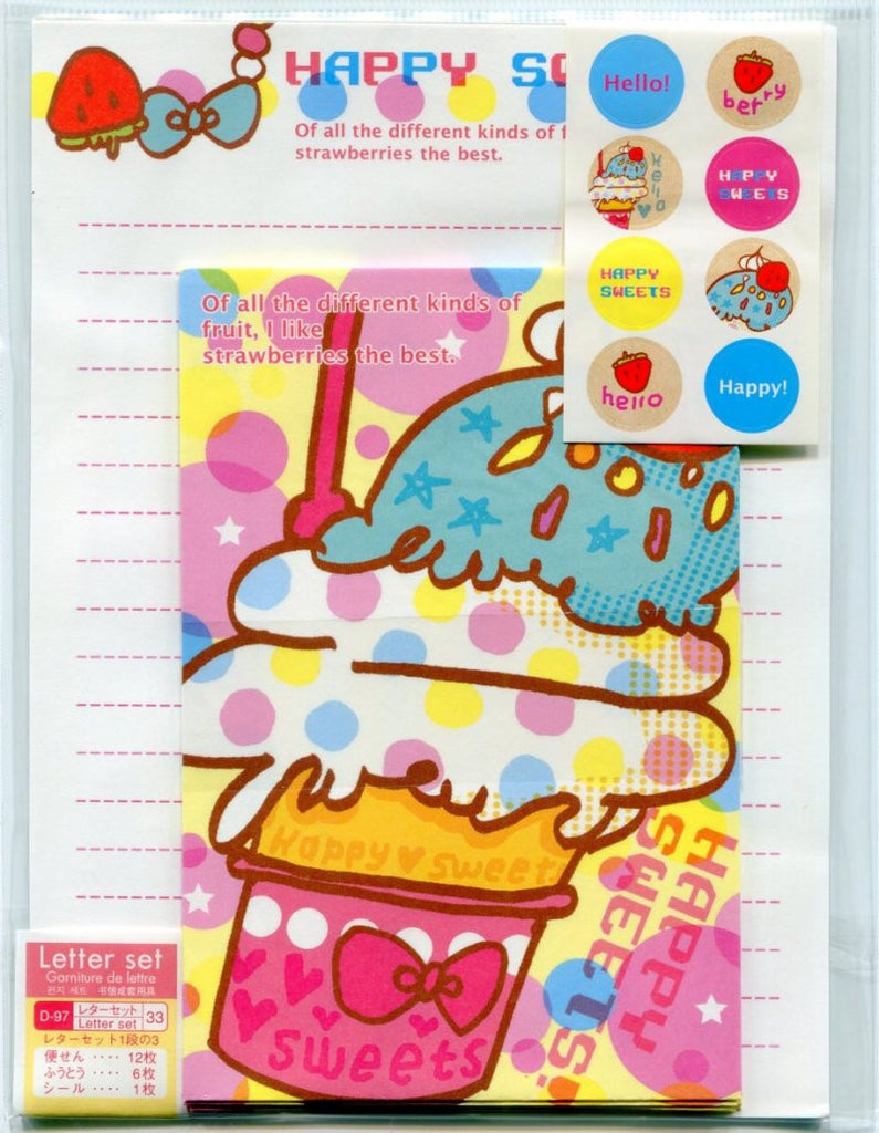 Daiso Happy Sweets Letter Set