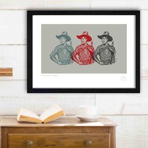 Boys own art print cowboys