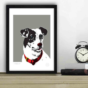 Perfect art print for Jack Russell lovers