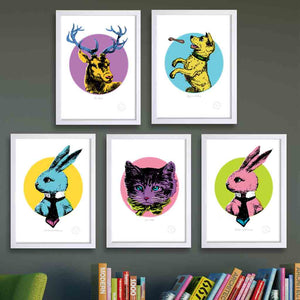 Kids retro art prints