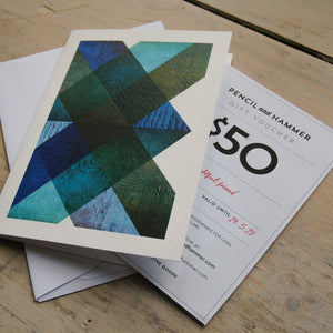 Gift voucher for art and creative goods
