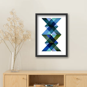 Boden black framed print