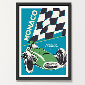 Capri Moss car art print