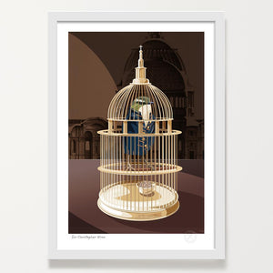 Sir Christopher Wren framed