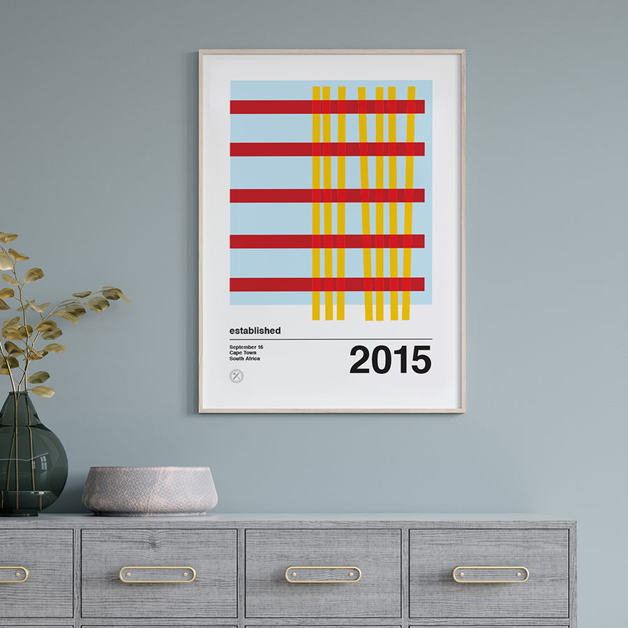 Crossing personalised mid century print