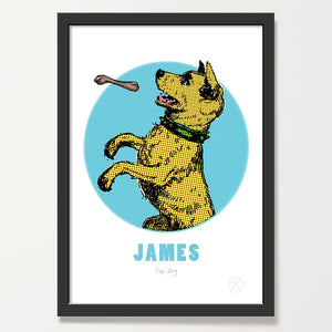 Dog customised art print