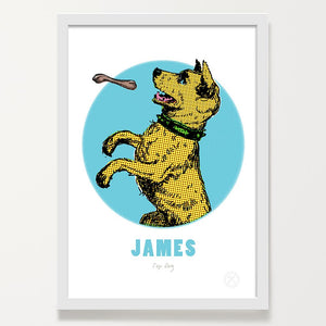 Dog and bone art print