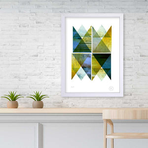 Fjord art print on wall | pencil and hammer