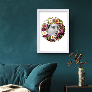 Flora art print on wall