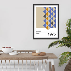 Forme 1 customised mid century print