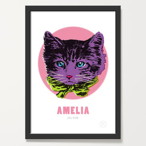 Miss Kitty art print