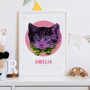 Miss Kitty personalised art print