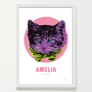 Miss Kitty customised art print