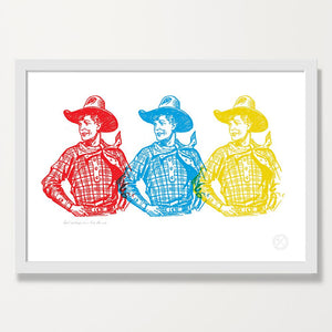 Real Cowboys Can Line Dance print