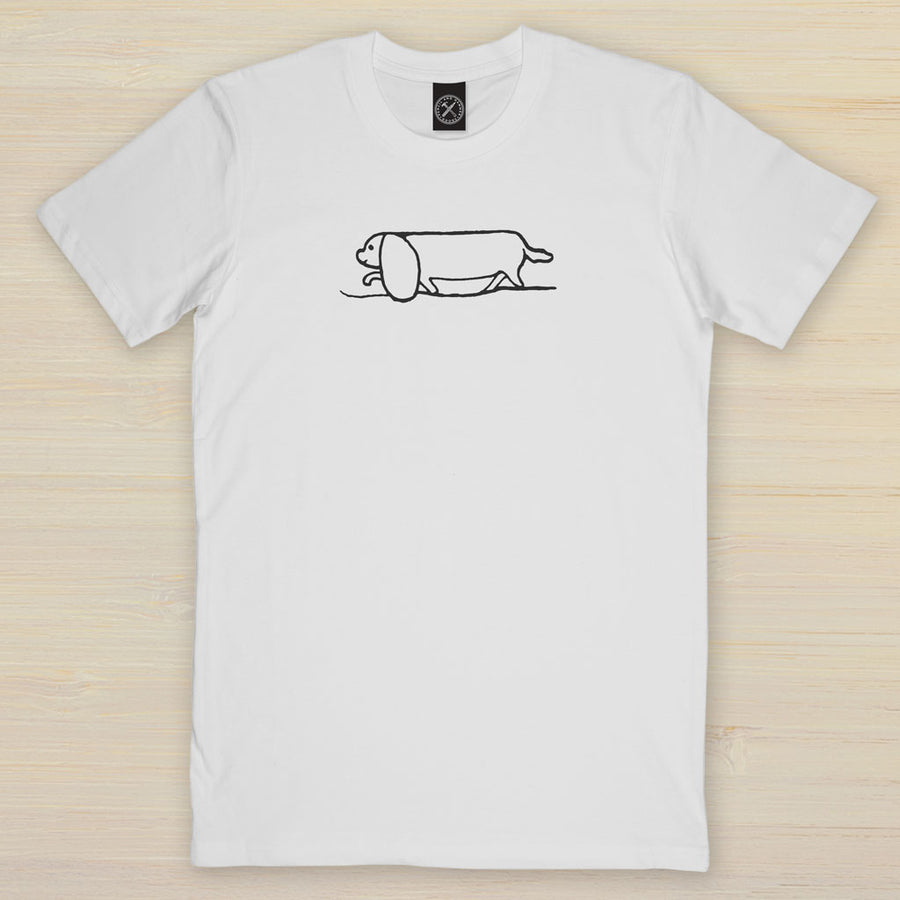Long Boy Dachshund  dog t shirt Pencil and Hammer