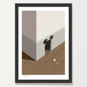 Mickey House art print