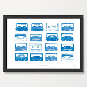 Mixtape music custom print Cobalt