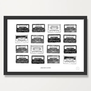 Personalised Mixtape print -Jet