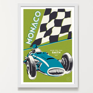 Moss Capri racing car print