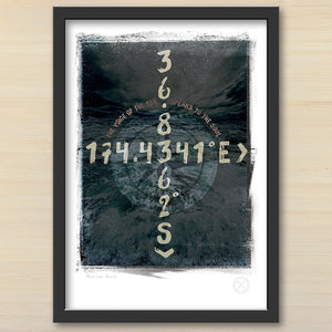 Muriwai co ordinates art print