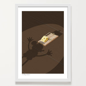 Oh Boy Cheese! Mouse art print