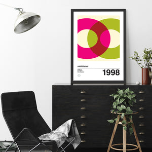 Orbit 2 personalised art print